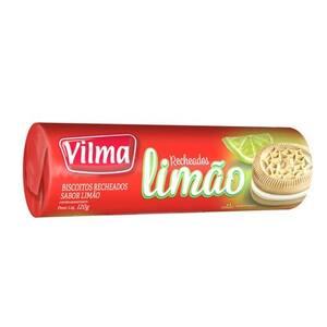 Biscoito Doce Recheado Vilma Limão Embalagem 120g