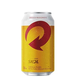 Cerveja Skol 350ml Lata