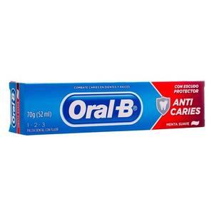 Creme Dental Oral-B Anti Caries Menta Suave 70g
