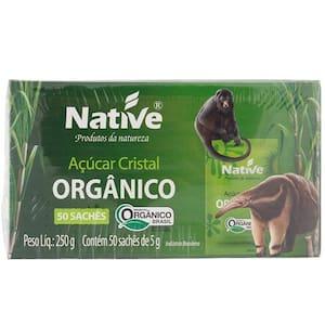 Açúcar Orgânico Cristal Native Pacote 250g 50 Sachês