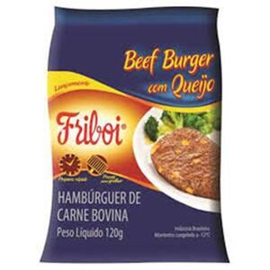 Beef Burger Friboi com Queijo Unidade 120g