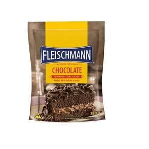 Mistura para Bolo Fleischmann Sabor Chocolate Embalagem 390g