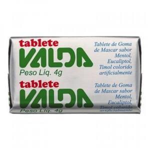 Tablete Valda Mentol 4g