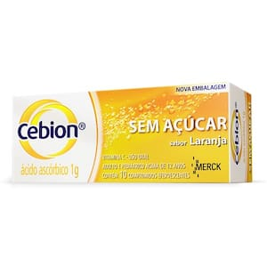 Cebion 1g Laranja S/Açucar 10 Cprs
