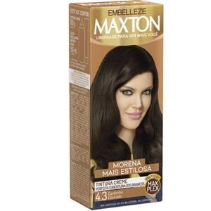 Tintura de Cabelo Maxton 4.3 Castanho Dourado