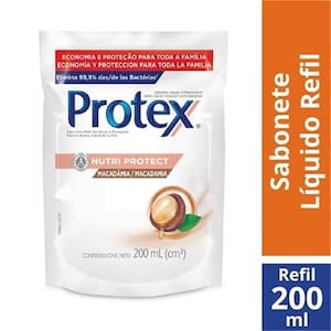 Sabonete Líquido Corporal Protex Pro-Hidrata Macadâmia Refil 200ml