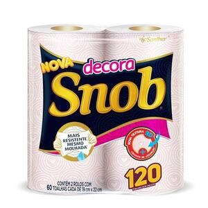 Toalha de Papel Snob Decorado Pacote 2 Un