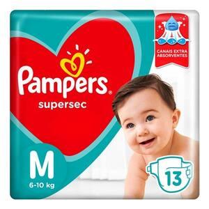 Fralda M Pampers Supersec 13Un