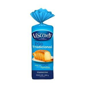 Pão de Forma Visconti Tradicional Embalagem 400g