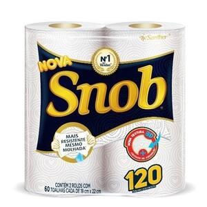 Toalha de Papel Snob Multiuso Pacote 2 Rolos