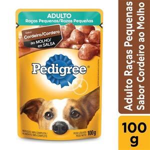 Ração para Cães Adultos Pedigree Raças Pequenas Cordeiro Ao Molho 100g