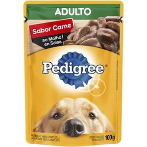 Ração para Cães Adultos Pedigree Carne Ao Molho 100g
