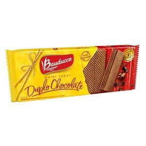 Biscoito Wafer Sabor Duplo Chocolate Bauducco 78g