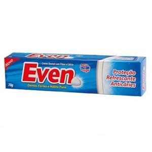 Creme Dental Even Flúor e Cálcio Embalagem 70g