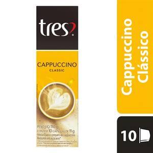 Café 3 Corações Cápsulas Cappuccino Classic 110g