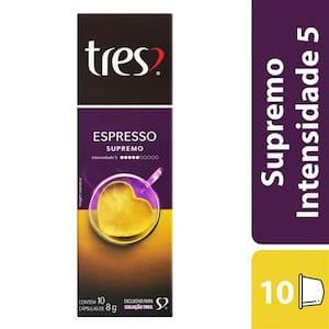 Café 3 Corações Cápsulas Espresso Supremo 80g