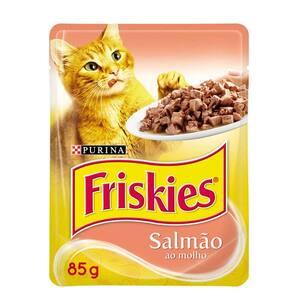 Sachê Friskies Salmão Ao Molho 85gr