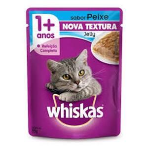 Alimento para Gatos Whiskas Jelly Peixe Sachê 85g