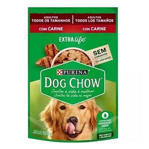 Ração para Cães Adultos Dog Chow Carne Ao Molho 100g