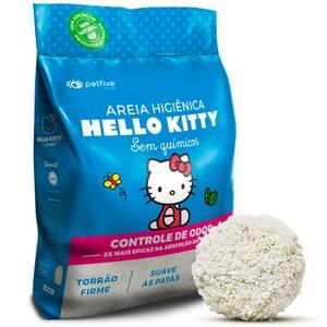 Areia Higiênica Clássica Hello Kitty Azul 2kg