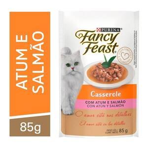 Casserole com Atum e Salmão Purina Fancy Feast para Gatos Adultos 85g