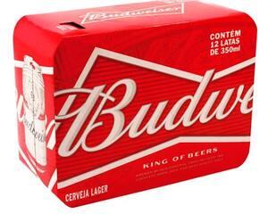 Budweiser lata 350 ml pack com 12 unid
