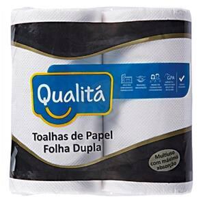 Papel Toalha Qualitá Branco Embalagem 2 Un
