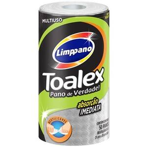 Pano Multiuso Limppano Toalex Reutilizáveis Embalagem 50 Un