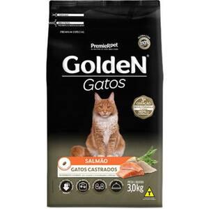 Ração Golden Gatos Adultos Castrados Salmão 3kg