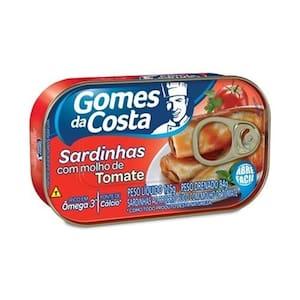 Sardinha Gomes da Costa com Molho de Tomate Lata 125g