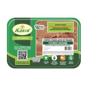 Sassami de Frango Orgânico Congelado Korin Embalagem 600g