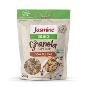 Granola Jasmine Orgânico Chocolate e Coco Embalagem 200g