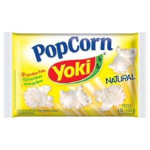 Pipoca de Microondas Yoki Pop Corn Natural 100G