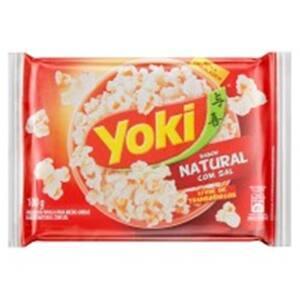 Pipoca de Microondas Yoki Pop Corn Natural com Sal 100G