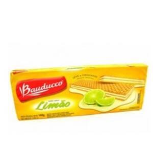 Biscoito Wafer Bauducco Limão Embalagem 78g