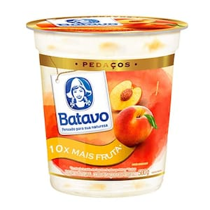 Iogurte Batavo Pedaços Pêssego Pote 500g