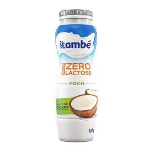 Iogurte Itambé Coco Zero Lactose Garrafa 170g