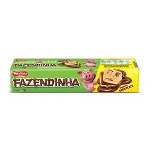 Biscoito Doce Recheado Bela Vista Fazendinha Chocolate Embalagem 130g