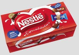 Caixa de bombom Nestlé especialidades 251g