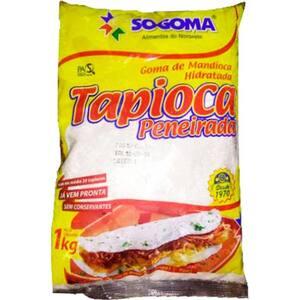 Goma Mandioca Fresca Tapioca Peneirada Sogoma 1kg