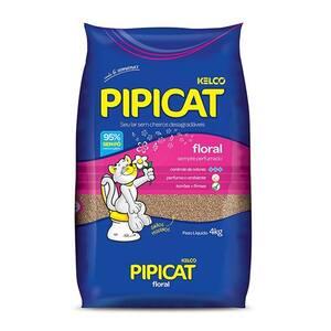 Areia para Gato Kelco Pipicat Floral Pacote 4kg