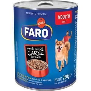 Alimento para Cães Adultos Faro Carne Lata 280g