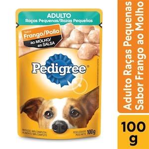 Ração para Cães Adultos Pedigree Raças Pequenas Frango Ao Molho 100g