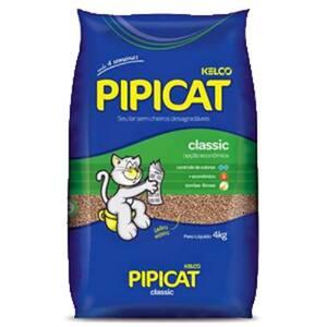 Areia Higiênica para Gatos Kelco Pipicat Classic Pacote 4kg