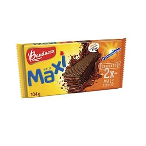 Biscoito Wafer Bauducco Maxi Ovomaltine 104G