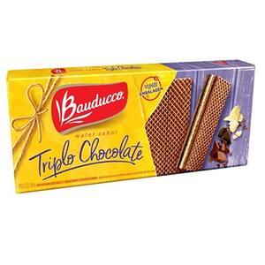 Biscoito Wafer Bauducco Triplo Chocolate Pacote 140g