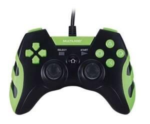 Controle Gamer Ps3 Pc(Windows 7/8/10) Preto E Verde Multilaser