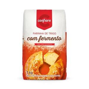 Farinha de Trigo com Fermento Confiare 1kg