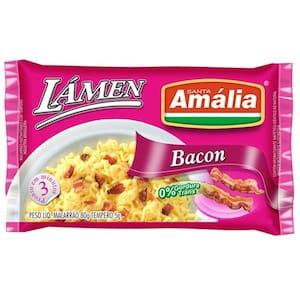 Macarrão Instantâneo Santa Amália Bacon Pacote 85g