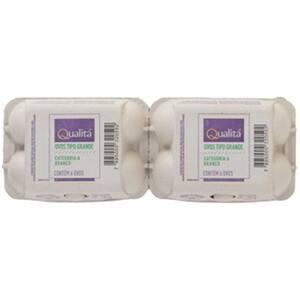 Ovos Brancos Grande Qualitá Cartela 6 Unidade